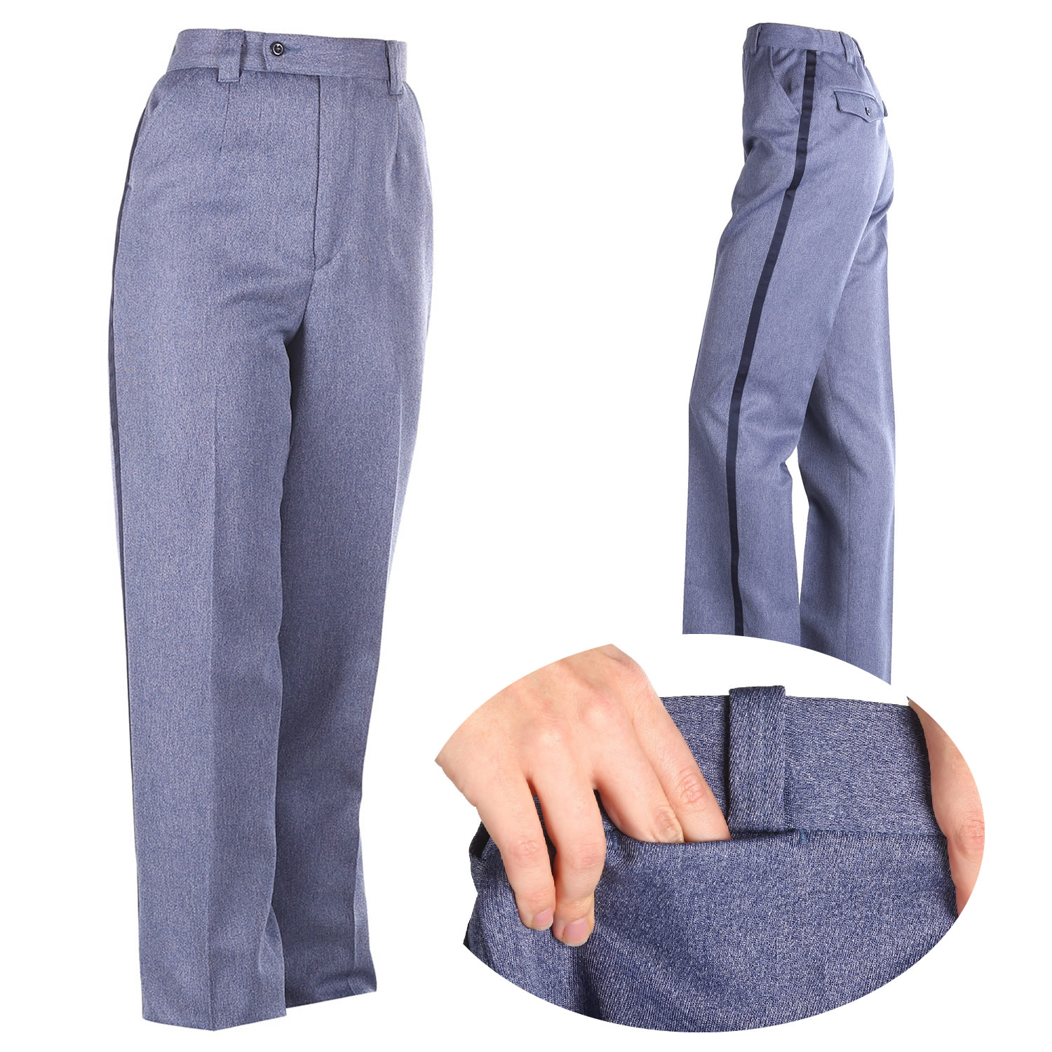 13 oz. Polyester Elastique Winter-Weight Slacks with Moistur