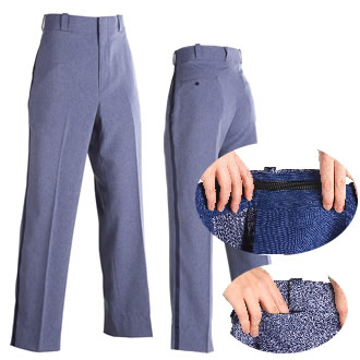 Stretch waist band relaxed cut stlye winter-weight trousers.