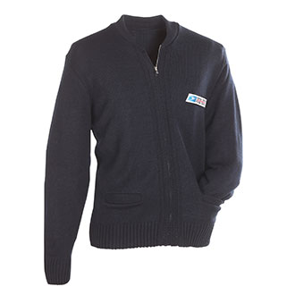 Zip Front Postal Sweater for Mail Handlers and Maintenance P